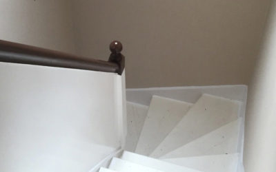 Emulsion hall, stairs and landing and gloss woodwork